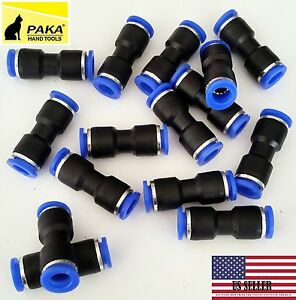 20 Pcs Air Pneumatic 1 4 To 1 4 6mm To 6mm Straight Push In Connectors Quick