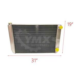 New Gm Chevy 31 X 19 X 3 Aluminum Radiator 2 Row Double Pass Universal