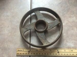 Vintage Metal Wheel Cog Rustic Shabby Ornate Industrial Steampunk