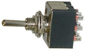 One Miniature 3pdt Toggle Switch 3 Position On off on 16076