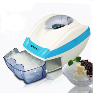 Electric Ice Shaver Machine Snow Cone Maker Automatic Slushy Shaving Crusher