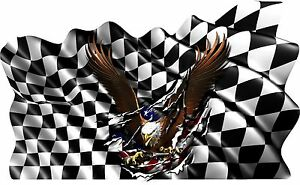 Win Flag Eagle Boat Car Truck Graphics Vinyl Stickers Racing Decals Wrap 45