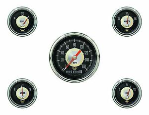 Classic Instruments Hollywood Hot Rod Series 5 Gauge Set Hh00slc Speedo Tach