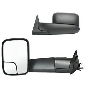1998 2001 Dodge Ram 1500 1998 2002 2500 3500 Manual Towing Mirror Pair
