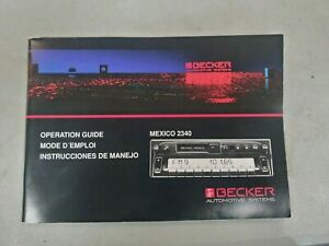 Becker Mexico 2340 Operation Guide Bas Op Guide