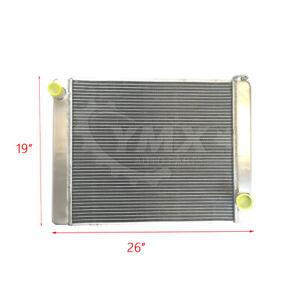 New 26 X 19 X3 Gm Chevy Universal Racing Welded Fabricated Aluminum Radiator