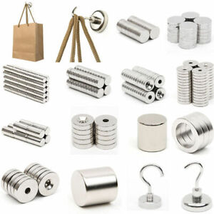 5 100pcs N52 Strong Countersunk Rare Earth Neodymium Fasteners Magnets Gifts