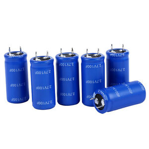 6pc Super Capacitor 2 7v 100f Storage Capacitor Horn Type Farah Capacitor