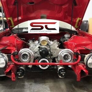 Short Tig Welded Ls1 Intake Manifold W Rails Lsx Ls2 Cathedral Heads Fabricated