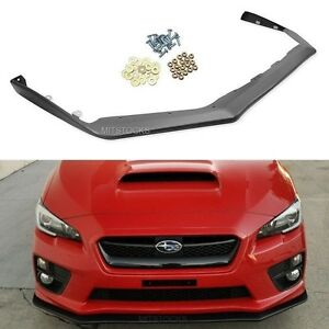 Fit For 15 19 Subaru Wrx Sti V Limited Jdm Front Bumper Lip Spoiler Body Kit Pp