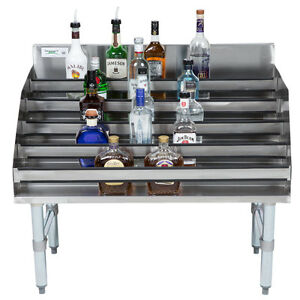 36 Five tiered Stainless Steel Restaurant Bar Liquor Display Rack 23 Deep