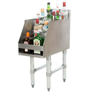 12 Five tiered Stainless Steel Liquor Display Rack 23 Deep