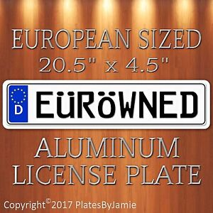 E R Wned Euro Style Aluminum European License Plate Tag Eurowned Germany German