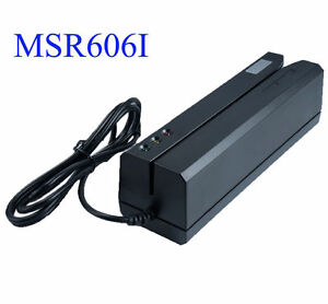 New Msr606i Magstripe Swipe Credit Card Reader Writer Encoder Magnetic Com msrx6