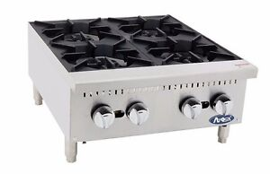 Atosa Athp 24 4 Commercial 24 4 Burner Hot Plate Countertop Range Gas