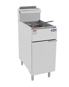 Atosa Atfs 40 Commercial 40lb Nat Gas Deep Fryer gas