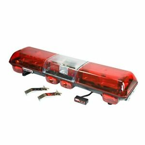 Wolo 7510 r Strobe Emergency Warning Light Bar Red Lens Roof Mount