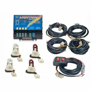 Wolo Hide a way Strobe Light Kit 2 clear 2 red Bulbs 8004 6ccrr