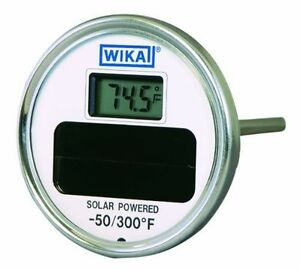 Wika Ti 80 Stainless Steel 304 Solar Digital Thermometer 50 300 Degrees F 24