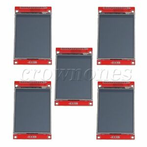 5pcs Lcd Touch Panel 240 X 320 2 8 Spi Tft Serial Port Module With Pbc Ili9341