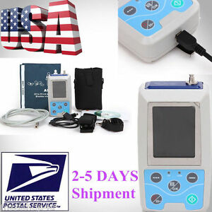 Us Warehouse 24 Hours Ambulatory Blood Pressure Monitor Sphygmomanometer Nibp