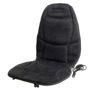 Wagan Soft Velour 12v Heated Seat Cushion Ultra Plush W Temperature Control