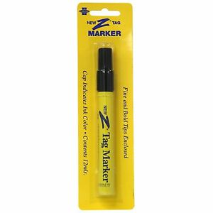 Z tag Marking Pen Black Permanent Ink Penetrates And Etches Tag Long Lasting