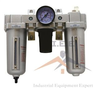 3 4 H d Combo Particulate Filter Regulator Lubricator Compressed Air Auto Drain