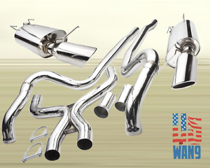 2011 2014 Ford Mustang Gt V8 5 0l Hi Performance Exhaust Catback 4 5 Dual Tip