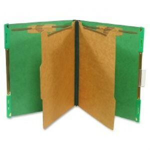 Sj Paper Hanging Pressboard Classification Folders Letter 6 Fastener Green