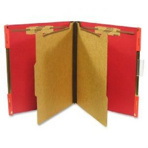 Sj Paper Hanging Pressboard Classification Folders Letter 6 Fastener Red
