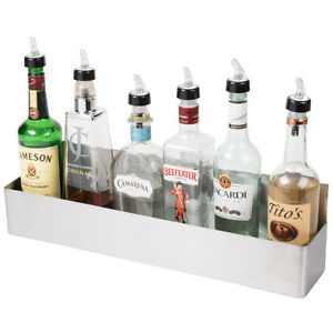 22 Stainless Steel Single Tier Commercial Bar Speed Rail Liquor Display Rack