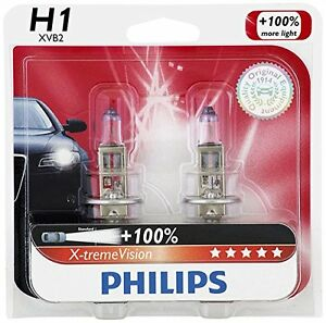 2x Germany Philips H1 12258 Upgrade X Tremevision White 100 More Light Bulb 55w