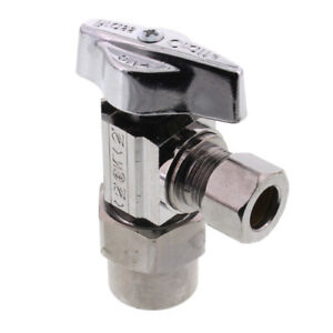 1 2 Nominal Cpvc X 3 8 Od Compression 1 4 turn Angle Ball Stop Valve