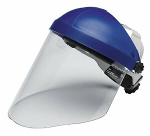 Faceshield Headgear Combination Head Face Protection Clear Polycarbonate Safety