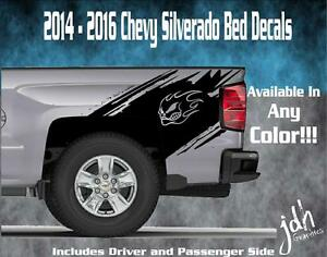 2014 2015 2016 Chevy Silverado Vinyl Decal Sticker Splash Graphic Stripe Skull