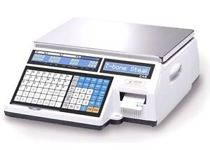 Cas Cl5000b Label Printing Scale 60 Lb Dual Range W Wireless Card Ntep