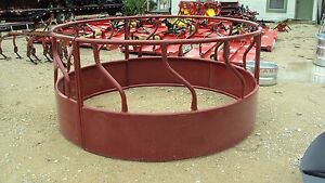 S bar Round Bale Hay Ring With Skirted Sides