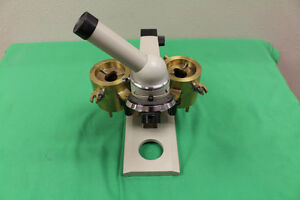 Biolam Microscope N764856 With Case Power Supply Eyepieces And Many Extras