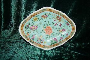 Large Old Cracked But Beautiful Chinese Bowl