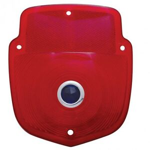 Taillight Lens Red W Blue Dot 1953 1956 Ford Truck Upi A5016