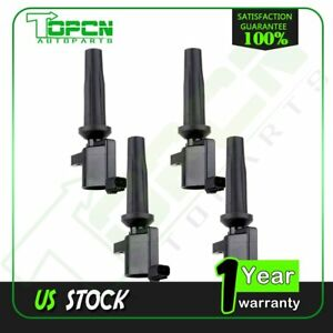 Pack Of 4 Ignition Coils For 2005 2006 2007 2008 2009 2010 2011 2012 Ford Focus