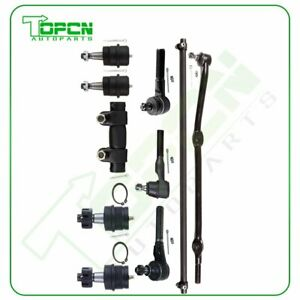 For Jeep Cherokee 10pc Front Ball Joints Tie Rods Adjusting Sleeve Steering Part