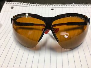 Uvex Honeywell Wraparound Uncoated Laser Safety Glasses Amber light Tan Lenses