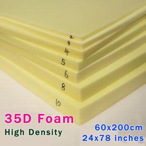 Foam Rubber Slab High Density Foam Upholstery Foam Seat Cushion Size 24 x80