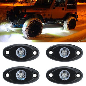 4pcs Aluminum 9w Bright White Led Rock Lights Accent Under Car Body For Chevy
