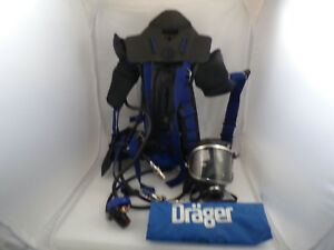 Drager 3338040 45min 4500psi Breathing System Scba W Carrying Case Used 1