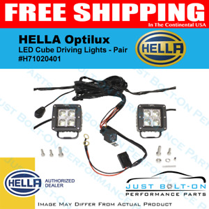 Hella Optilux Cube Pair Led Driving Flood Lamp Off roar H71020401 In stock New