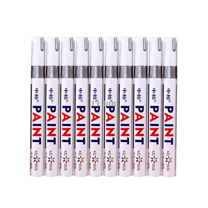 12pcs Car Tyre Marker Pen Waterproof Tire Rubber Permanent Silver Paint Tag Pen
