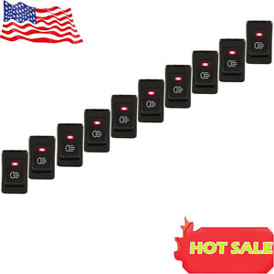 Hot 10x Red Led 12v 35a 4 Pins Car Headlamp Fog Light Switch Button On Off Us